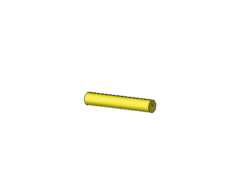 27mm lange Stäbchen (gelb)