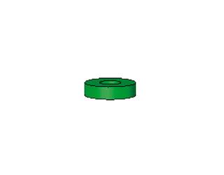 Vorstecker für Achsen grün 2,5 mm